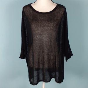 Eileen Fisher oversized sweater light weight linen